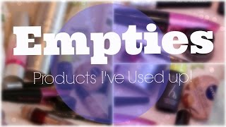 Empties | Products I've Used Up Thumbnail