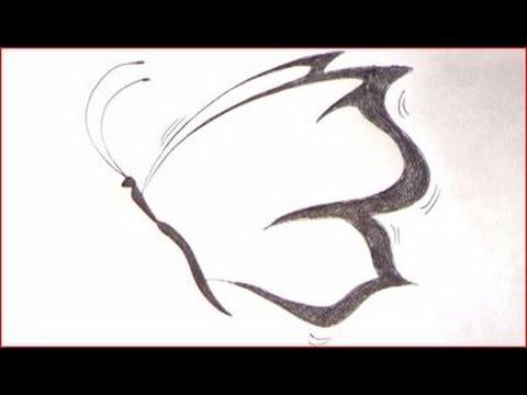 Disegnare una farfalla passo per passo youtube for Immagini di disegni facili