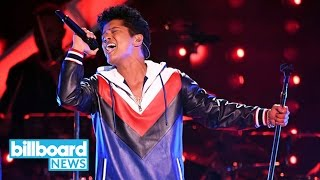 Bruno Mars Ties Justin Timberlake for Most Pop Songs No. 1s Among Male Soloists   Billboard News