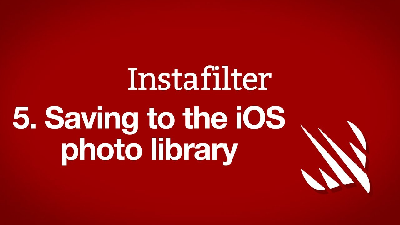 Saving to the iOS photo library - a free Hacking with Swift