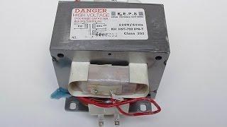 Как проверить трансформатор микроволновой (СВЧ) печи.  Transformer microwave oven.(У меня часто спрашивают, как проверить трансформатор микроволновой печи, как определить сетевую и высоково..., 2016-02-27T16:30:17.000Z)