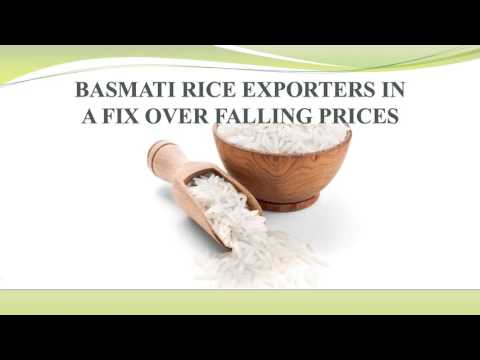 BASMATI RICE EXPORTERS IN A FIX OVER FALLING