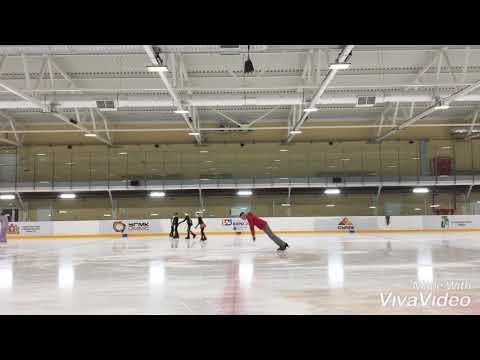 Training acrobatics on the ice.