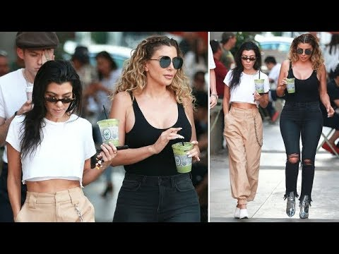 Kourtney Kardashian And Larsa Pippen Looking Gorgeous For Lunch Outing