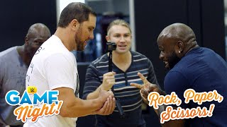 Epic Superstar Rock, Paper, Scissors war: WWE Game Night