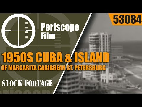 1950s CUBA & ISLAND OF MARGARITA CARIBBEAN  ST. PETERSBURG TRAVELOGUE FILM 53084
