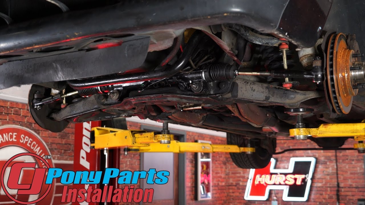 Rack And Pinion >> Upgrading worn out steering on the 1985-1993 Mustang V8: Power Steering Rack & Pinion Kit ...