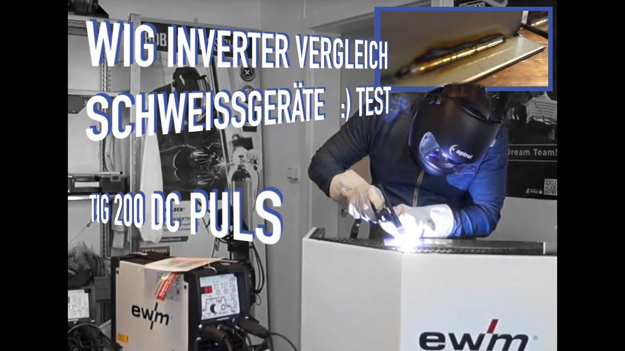 wig schwei ger t test und vergleich testbericht mit ewm inverter 200 amper dc youtube. Black Bedroom Furniture Sets. Home Design Ideas