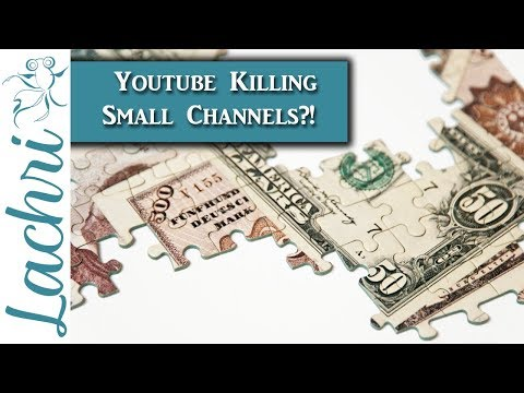 Youtube killing smaller Art Channels?! Reality check! - Lachri