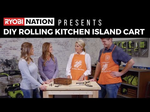 6300e7853330 DIY Rolling Kitchen Island Cart with Shanty 2 Chic & The Home Depot -  Duration: 2:38.