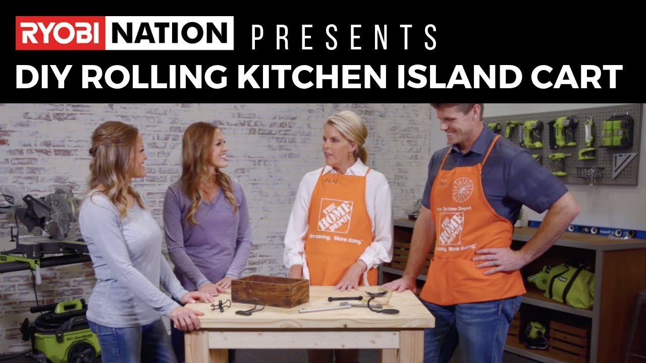 DIY Rolling Kitchen Island Cart with Shanty 2 Chic & The Home Depot