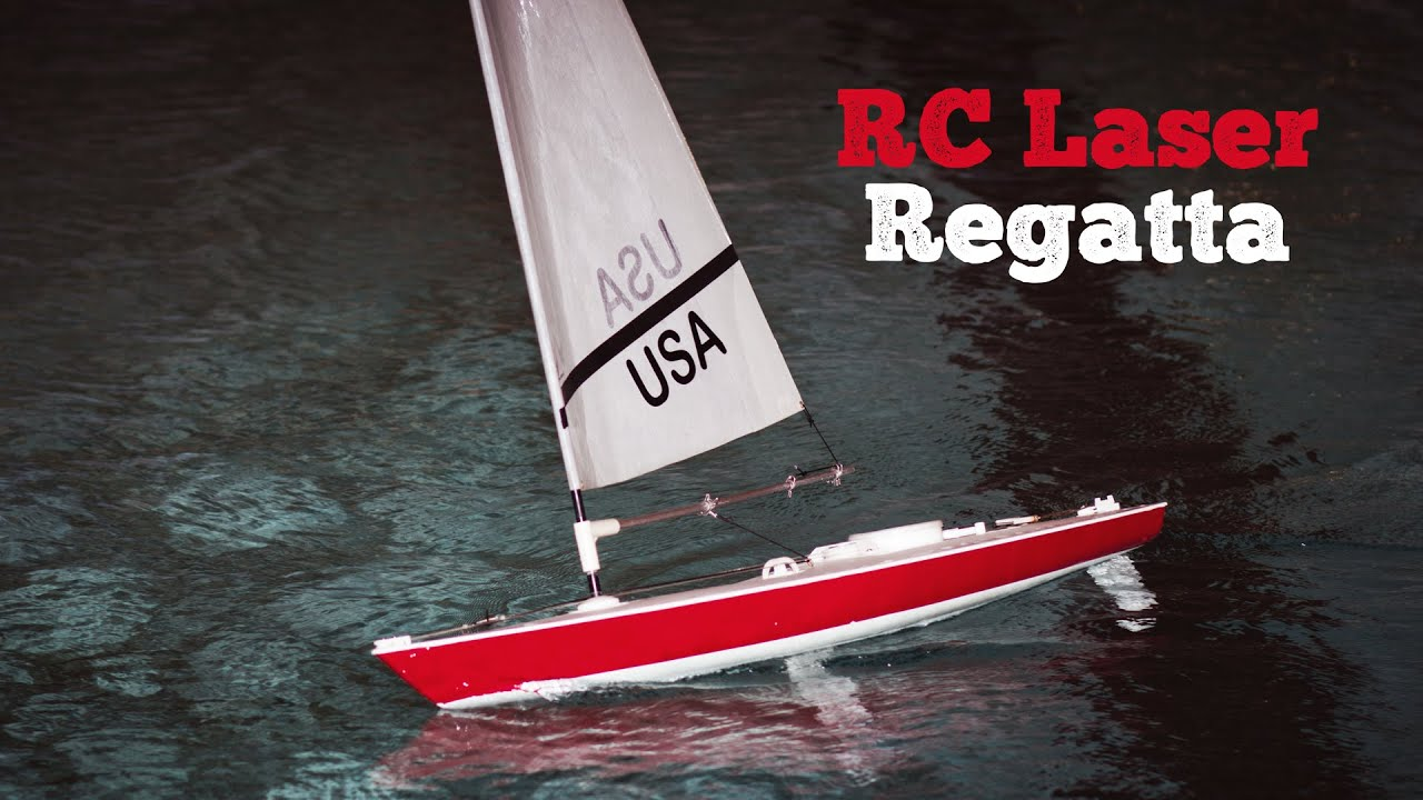 Rc Laser Sailing Regatta Winter Youtube