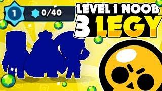 WOW! Level 1 Noob Unlocks ALL 3 LEGENDARY BRAWLERS In Brawl Stars! - Hard Core Gemming!