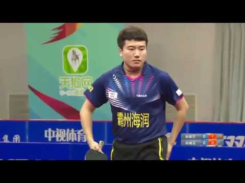 2016 China Table Tennis Super League: FAN ZHENDONG vs LIANG JINGKUN