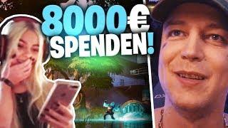 Kleine Fortnite Streamer Glücklich machen | 8000€ Spenden | SpontanaBlack