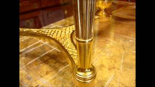 Gilding a console table