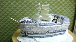 торт кораблик
