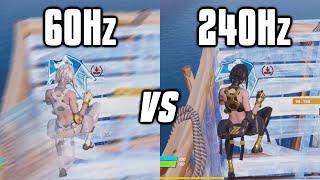Testing 60Hz vs 144Hz vṡ 240Hz On Fortnite! - Refresh Rate Comparison!