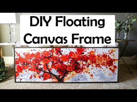 DIY Floating Canvas Frame