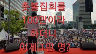 어제 광화문 보수집회, 1만 명 모였다는 동아일보