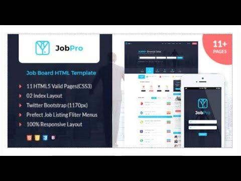 Job Pro - Job Board HTML Template | Themeforest Templates