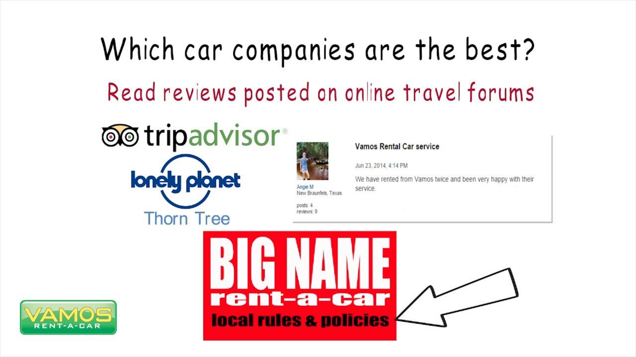 Reviews Vamos Rent A Car