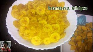 How to make Yellow Banana Chips, Banana Wafers, Raw Banana Wafers