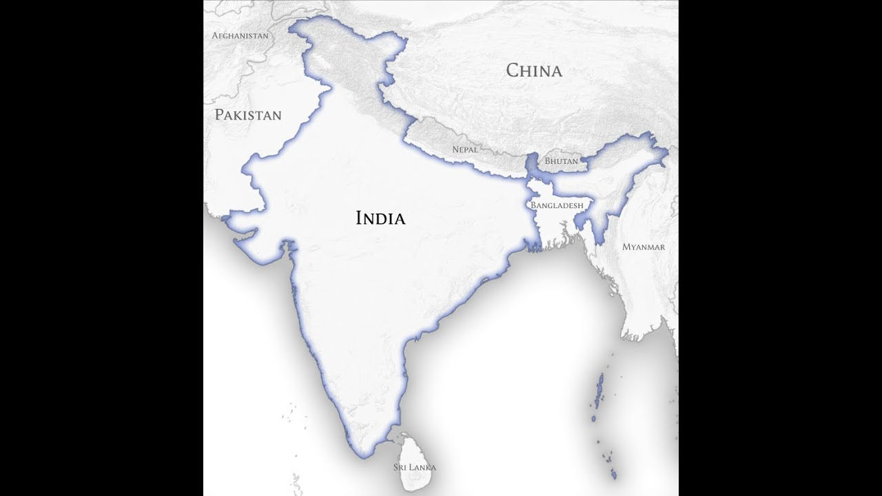 INDIA And Neighbouring Countries YouTube - World map with country names in hindi