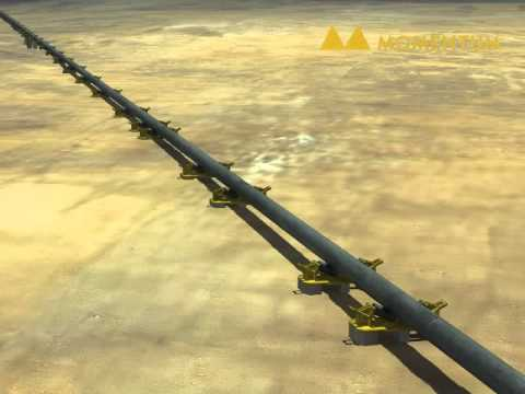 shore pull pipeline