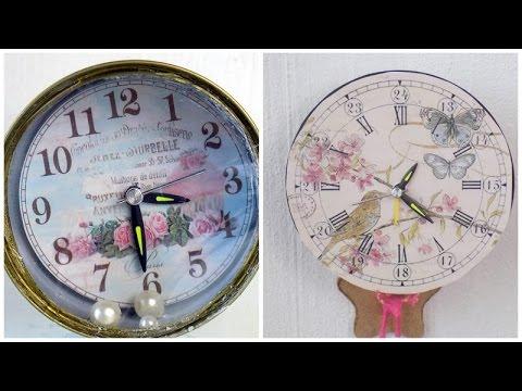 Relojes hechos de materiales reciclados youtube - Manualidades relojes de pared ...