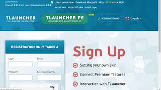 How To Register A Account For Tlauncher 2018 UPDATED