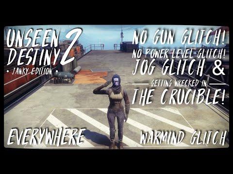 UNSEEN DESTINY 2 | No Gun Glitch / No Power Level Glitch / Jog Glitch & Getting Wrecked In Crucible