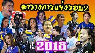 สรุปแบ่งกลุ่มและตารางการแข่งขันรอบ2ของทีมวอลเลย์บอลสาวไทย-ศึกวอลเลย์บอลชิงแชมป์โลก2018