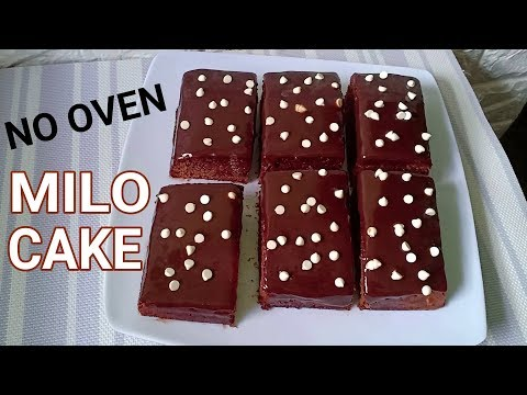 No Oven Milo Cake Recipe | How to Bake Milo Cake Without Oven