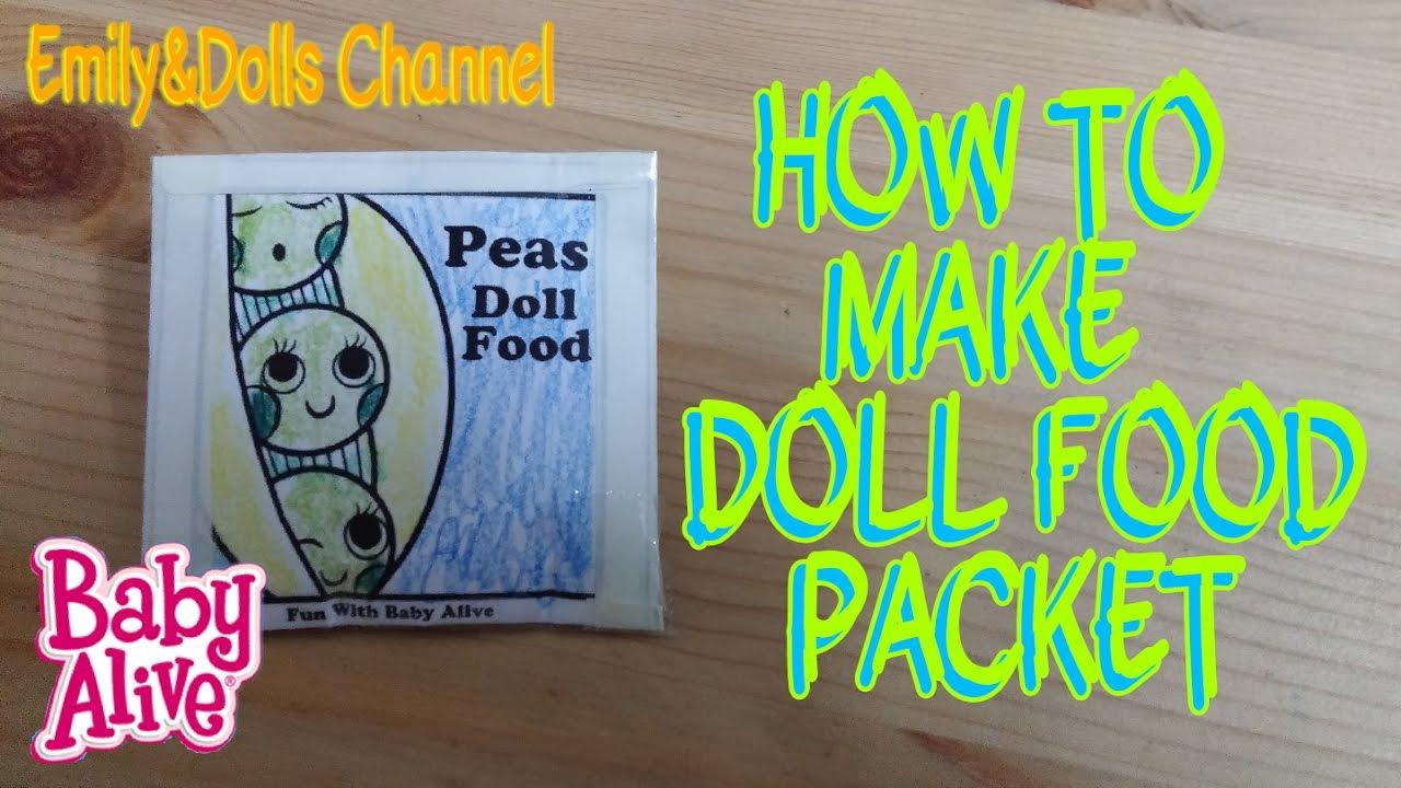 Ilmu Pengetahuan 3 Printable Baby Alive Food Packets Printables