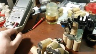 Ремонт и восстановление АКБ ni-cd  для шуруповёрта