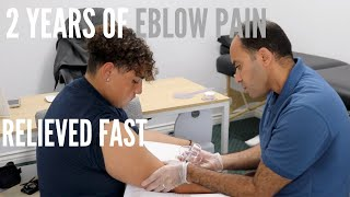 2 Years of Elbow Pain RELIEVED Very Fast (REAL TREATMENT!!!)