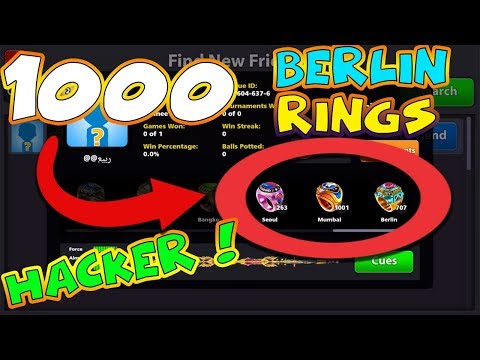 1000 BERLIN RINGS HACKER -/ Indirect Gameplay w-/Pakistan Cue | 8 Ball Pool