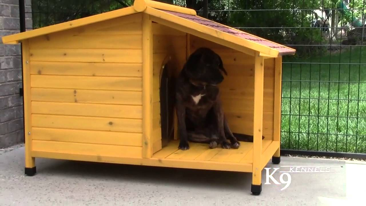 K9 Kennel Store Tuscan Wood Dog House YouTube