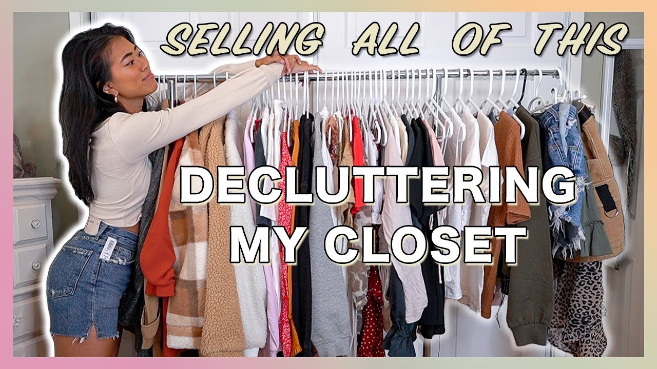 MAJOR CLOSET CLEAN OUT | Decluttering & Trying On All My Clothes