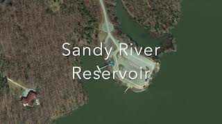 Great Bank Fishing Spot in Virginia Sandy River Reservoir in Prince Edward County