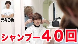 40回連続でシャンプーしたらどれだけ髪明るくなるの? thumbnail