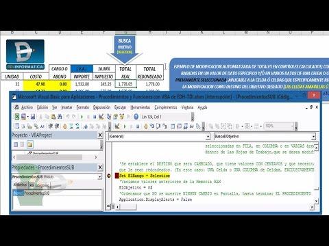 003.23.- Excel Y La Automatización De Cálculos - Parte 3/4