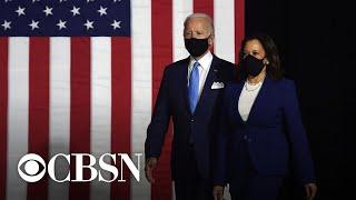 Biden and Harris slam Trump's pandemic response during debut appearance
