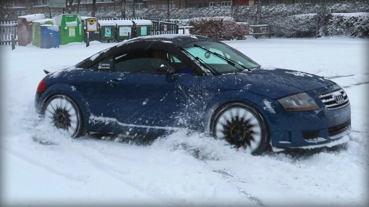 Taking My Audi Tt Mk1 Quattro Sport Snow Drifting Youtube