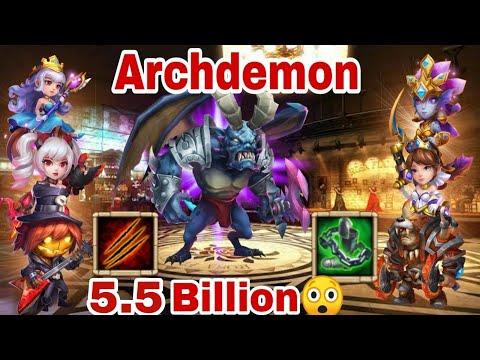Archdemon | Summons Monster Area Demage |  5.5 Billion | Without Lavanica Castle Clash