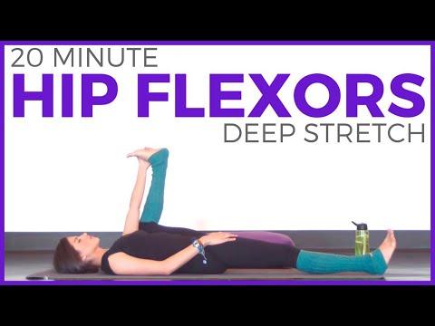 20 Minute Deep Stretch Yoga for Hip Flexors | SarahBethYoga