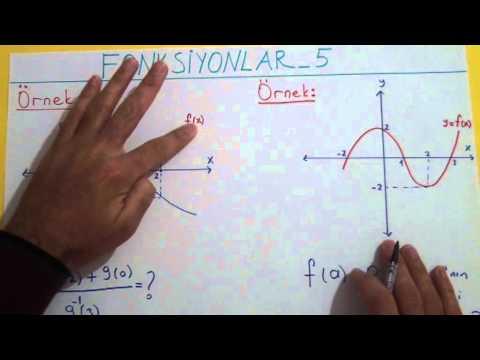 Fonksiyonlar 5 Fonksiyonun Grafiği Şenol Hoca Matematik