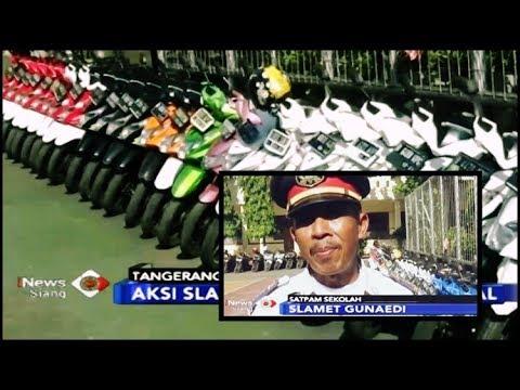 VIRAL! Aksi Satpam Slamet Rapikan Motor Siswa Sesuai Warnanya - iNews Siang 04/02
