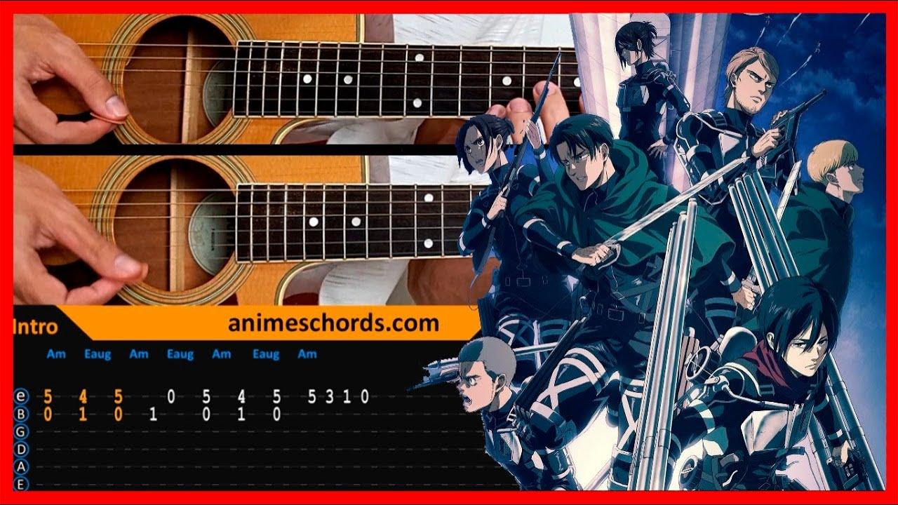 Attack on Titan Final Season ED - Shock   Acoustic Guitar Lesson [Tutorial + TAB + CHORDS]